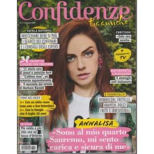Confidenze - settimanale n. 7 -6 febbraio 2018 - Annalisa al quarto Sanremo