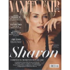Vanity Fair - settimanale n. 6 -14 Febbraio 2018 - Sharon Stone, 60 anni