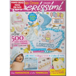 """Punto croce: creare """"TENERISSIMI"""" riedizione Oltre 500 idee inedite per il Bebè"""