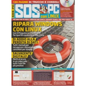 Linux Pro Manuale Mega - Sos Pc con Linux n. 3 - bimestrale - luglio - agosto 2018 - riedizione - 128 pagine