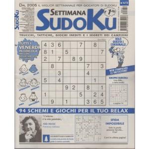 Settimana Sudoku - n. 672 - settimanale - 29 giugno 2018 -