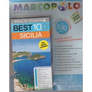 Marco Polo Compiega - Best 100 Sicilia - edizione luglio 2018 - con mappa estraibile