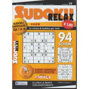 Sudoku Relax - n. 19 - bimestrale - luglio - agosto 2018