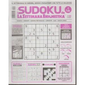 I Sudoku  de La settimana enigmistica n. 40 - 5/7/2018 - settimanale