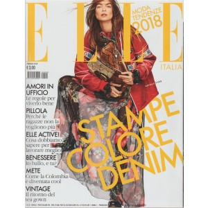 ELLE Italia - mensile n. 2 Febbraio 2018 Moda tendenze 2018