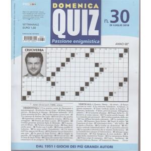 Domenica quiz passione enigmistica - n. 30 - 26 luglio 2018 - settimanale