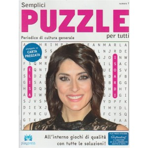 Semplici puzzle per tutti - Elisa Isoardi - n. 7 - bimestrale - 18/7/2018 - Periodico di cultura generale