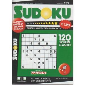 Sudoku - n. 137 - mensile - agosto 2018