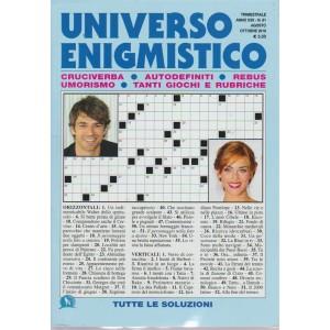 Universo Enigmistico - n. 81 - trimestrale - agosto - ottobre 2018 -