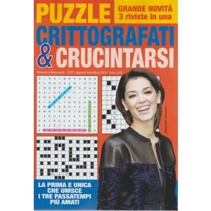 Puzzle Crittografati & crucintarsi - n. 6 - bimestrale - agosto - settembre 2018  - 3 riviste in una