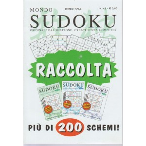 Raccolta mondo sudoku - n. 43 - bimestrale - più di 200 schemi!