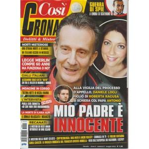 Così Cronaca -Mensile n.5 Maggio 2018-La morte di Ilaria Alpi: Somalo rilasciato