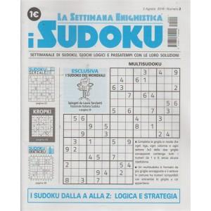 La settimana enigmistica - I sudoku - n. 2 - 2 agosto 2018 - settimanale