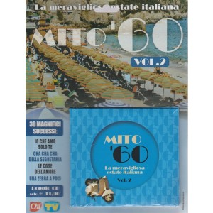 Cd Sorrisi Super - Mito 60 Vol.2 - La meravigliosa  estate italiana - doppio CD