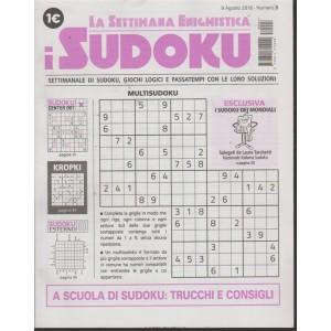La settimana enigmistica. I sudoku - n. 3 - 9 agosto 2018 - settimanale