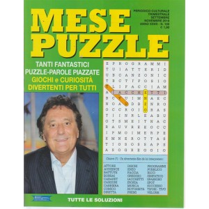 Mese Puzzle - n. 100 - trimestrale - settembre - novembre 2018 -