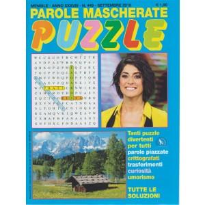 Parole Mascherate puzzle - n. 449 - mensile - settembre 2018 -