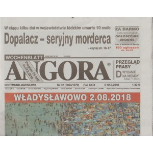 Angora - settimanale in lingua polacca n. 32 - 6 Agosto 2018