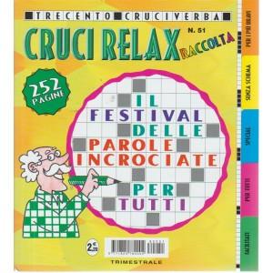 Raccolta crucirelax n. 51 - trimestrale - settembre - novembre 2018 - 252 pagine - 300 cruciverba