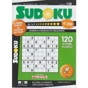 Sudoku - n. 138 - mensile - settembre 2018 - 120 schemi classici