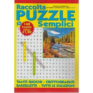 Raccolta Puzzle Semplici - n. 18 - settembre - novembre 2018 - trimestrale - 148 pagine