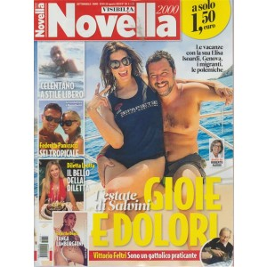 Novella 2000 - n. 36 - 29 agosto 2018 - settimanale