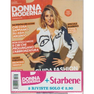 Donna moderna + Starbene - n. 37 - 29 agosto 2018 - settimanale - 2 riviste