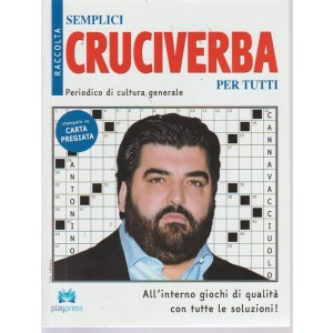 Raccolta semplici cruciverba per tutti - n. 26 - bimestrale - 3/9/2018 - Antonio Cannavacciuolo