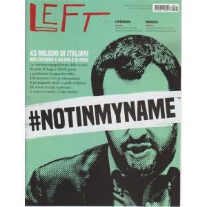 Left Avvenimenti - n. 37 - 14 settembre 2018 - 20 settembre 2018 - settimanale