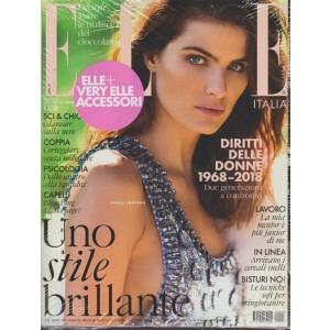 ELLE Italia - mensile n.3 Marzo 2018 + Very Elle accessori - Isabeli Fontana