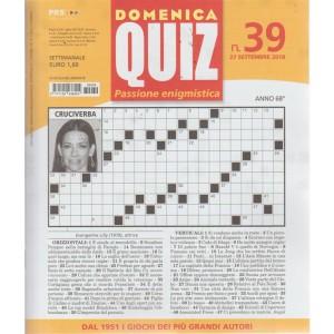 Domenica Quiz - n. 39 - 27 settembre 2018 - settimanale