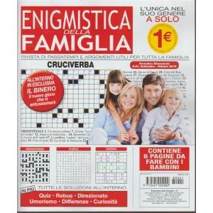 Enigmistica della famiglia - n. 21 - bimestrale - settembre - ottobre 2018