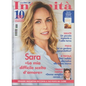 Intimita' - S. Zanier - n. 39 - 3 ottobre 2018 - settimanale