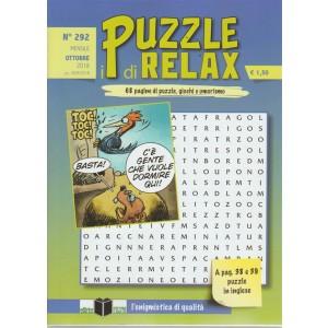 I Puzzle Di Relax - n. 292 - mensile - ottobre 2018 -