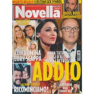 Novella 2000 -settimanale n.31 - 3 Agosto2017-Annatangelo e Gigi D'alessio Addio