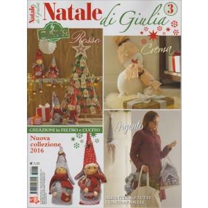 NATALE DI GIULIA N. 3.  BY CUCITO CREATIVO. CREA E DECORA FACILE N. 47. BIMESTRALE