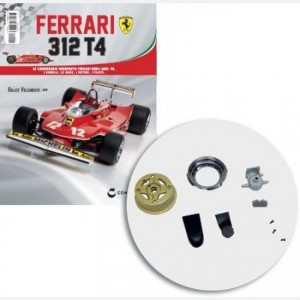 Ferrari 312 T4 in scala 1:8 (Gilles Villeneuve, 1979) Uscita N° 3