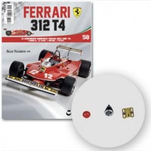 Ferrari 312 T4 in scala 1:8 (Gilles Villeneuve, 1979) Supporto connettore alettone posteriore, indicatore posteriore e cover.
