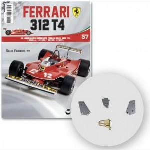 Ferrari 312 T4 in scala 1:8 (Gilles Villeneuve, 1979) Connettore 3 alettone posteriore, cardine sx e dx alettone posteriore, cardine