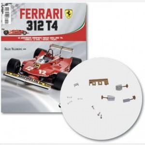 Ferrari 312 T4 in scala 1:8 (Gilles Villeneuve, 1979) Pedale 1, Frizione, Pedale 2, Poggiapiede, Pannelo pedali