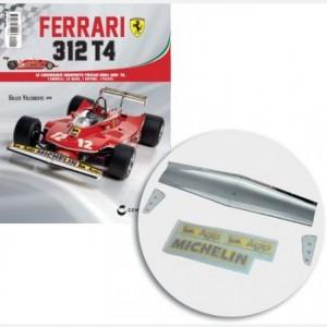 Ferrari 312 T4 in scala 1:8 (Gilles Villeneuve, 1979) Ala anteriore, estremità destra e sinistra dell'ala anteriore, decal