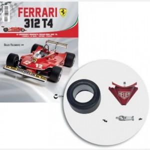 Ferrari 312 T4 in scala 1:8 (Gilles Villeneuve, 1979) New musetto ant., pneumatico sinistro, gommapiuma riempimento pneumatico
