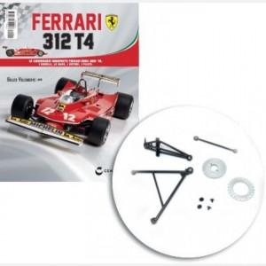 Ferrari 312 T4 in scala 1:8 (Gilles Villeneuve, 1979) Disco freno, parte sup e inf, supporto sospensione sx, braccetto sospensione sx