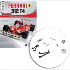 Ferrari 312 T4 in scala 1:8 (Gilles Villeneuve, 1979) Supporto disco freno ant, copertura cerchione ant, albero sospensione, braccetti