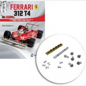 Ferrari 312 T4 in scala 1:8 (Gilles Villeneuve, 1979) Copertura motore sx, presa area motore sx, molla, albero, copertura cilindri motore