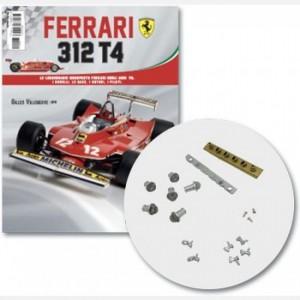 Ferrari 312 T4 in scala 1:8 (Gilles Villeneuve, 1979) Copertura motore dx e base, prese aria motore dx, cipertura cilindri motore