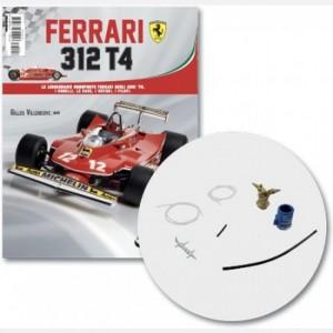 Ferrari 312 T4 in scala 1:8 (Gilles Villeneuve, 1979) Connettore tubo dell'olio e tubo, filtro dell'aria, base e tubo, filtro dell'aria