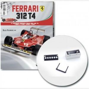 Ferrari 312 T4 in scala 1:8 (Gilles Villeneuve, 1979) Batteria, coperchio batteria, supporto batteria