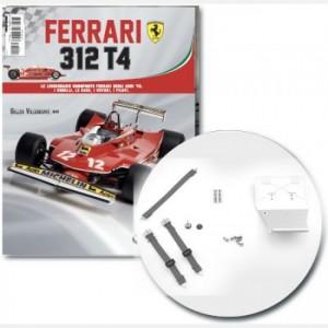 Ferrari 312 T4 in scala 1:8 (Gilles Villeneuve, 1979) Pannello posteriore, cintura di sicurezza con fibbia e etichette