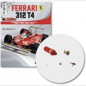 Ferrari 312 T4 in scala 1:8 (Gilles Villeneuve, 1979) Serbatoio, bocchettone con tubo serbatoio, componente e contatore del serbatoio